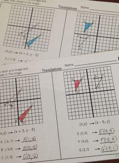 Hs Geometry Transformations Workbook Translations