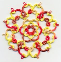 Tatting and not a lot else!: More Twirly's!!!!