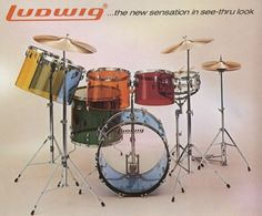 Ludwig Vistalite classic jellybean kit - 1974