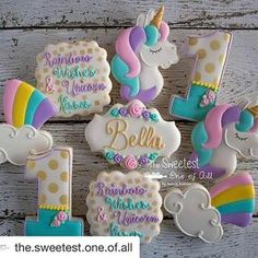 Love these cookies from @the.sweetest.one.of.all using our stencils! So perfect an pretty!!!!! #repost @the.sweetest.one.of.all with @repostapp ・・・ ♡ Rainbow Wishes & Unicorn Kisses ♡ Happy 1st Birthday Sweet Little Bella! I just fell in love with unicorns all over again ♡