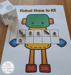 Robot Race to 10! A FREE counting game for your little learners. https://www.teacherspayteachers.com/Product/Robot-Race-to-10-or-20-A-ten-frame-counting-game-for-your-little-learners-2579793