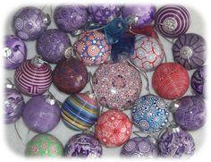 Polymer+Clay+Christmas+Balls | Polymer clay - Christmas tree ornaments