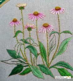 Have Fun with Silk-Ribbon Embroidery - Embroidery Patterns Cushion Embroidery, Embroidery Stitches Tutorial, Embroidery Flowers Pattern, Silk Ribbon Embroidery, Crewel Embroidery, Hand Embroidery Designs, Vintage Embroidery, Embroidery Techniques, Cross Stitch Embroidery