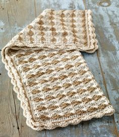 Crochet Shell Stitch Baby Blanket-made this and it is easy but a smaller sized blanket-very prettyo
