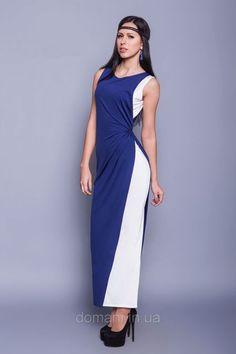Двухцветное длинное в пол коктейльное платье, греческий стиль, размер 42, фото 1