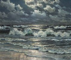 Paintings of Sea by Patrick von Kalckreuth (German, 1892–1970)