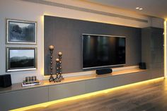 Feature Wall Living Room, Living Room Wall Units, Living Room Tv Unit Designs, Living Room Decor, Apartment Interior, Apartment Design, Modern Tv Room, Home Interior Design, Family Room Design