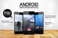 Android Smartphone Mockups by YD-LABS on Creative Market