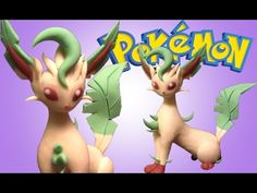Leafeon Pokémon  Polymer Clay Tutorial