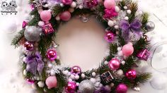 Новогодний рождественский ВЕНОК своими руками ! Christmas wreath (do it ...