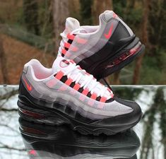 355e77267f Nike Air Max 95 GS Black Solar Red Gun Smoke 905348-013 Size 7Y #Nike  #Athletic