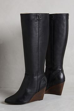 GORGEOUS Frye Regina pointed toe wedge boot for fall/winter - perfect with skinny jeans and a black blazer! #anthrofave