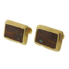 Boulder Opal Gold Cufflinks