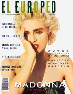 cMag624 - El Europeo Magazine cover Madonna by Alberto Tolot / December 1989