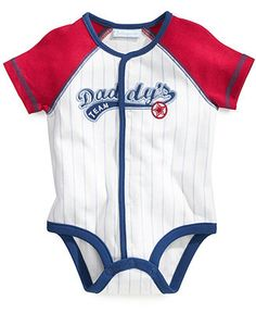 First Impressions Baby Bodysuit, Baby Boys Baseball French Creeper - Kids SALE & CLEARANCE - Macy's