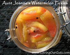 Aunt Joanne's Lacto-Fermented Watermelon Pickles