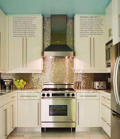 kitchen backsplash - metallic