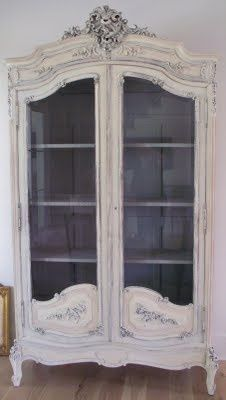 This armoire is so feminine and dreamy.