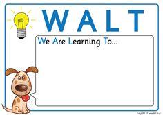 Teacher's Pet - WALT & WILF Posters - FREE Classroom Display Resource - EYFS, KS1, KS2, learning, to, looking, for, walt, wilf
