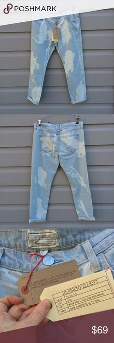 Current/Elliott distressed cuffed jeans Current/Elliott brand new with original tags, and original sticker price of $238 in size 29. Very on trend with the rocker boyfriend/90s grunge revival that is surging in popularity. Casual cool yet high end chic. Current/Elliott Pants Ankle & Cropped