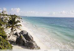 Tulum Mexico - take a dip in the private beach inside Tulum's ruins... Utopia