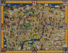 Wonderground Map of London. MacDonald Gill (1884-1947)