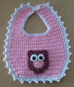 Owl bib made by Tangles.  Applique made from Repeat Crafter Me pattern.
