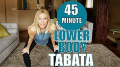 45 Minute Lower Body Tabata Workout | Intense HIIT Workout at Home!