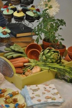 MacGregor's Garden Centerpiece- Vintage Children's Book baby shower