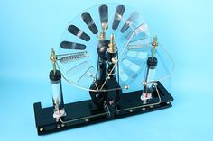 A how to on building a Wimhurst Influence Machine, using parts from your local home improvement store. It creates an electric charge by spinning the wheel by hand.   Cool huh?