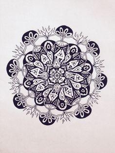 #Impulseearth #Casablanca #Chile #Casa Botha #Mandala #Zentangle #Art #Miss Miri #Abstract #Meryem Simsek #Hand drawn #Symmetry #Black and white #B&W #India