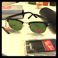 SALE  sunglasses brandnew with case and box. clubmaster style. Accessories Glasses