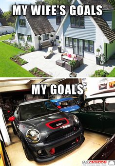 May not have to be just the husband's goals, could also be both! 😂 Goals and life accomplishments for the miniac! F1 Racing, Drag Racing, Mini Cooper Accessories, Mini Cooper Sport, John Cooper Works, Audi A5, Lamborghini Gallardo, Fiat 500, Classic Mini