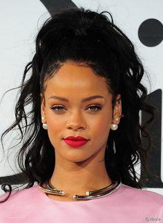 Rihanna attends the Christian Dior Cruise 2015 show at Brooklyn Navy Yard on May 7, 2014