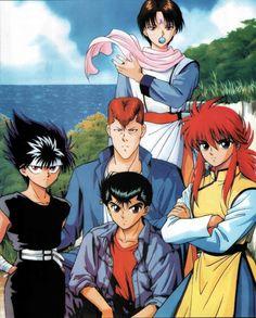 Yu Yu Hakusho, Urameshi Yuusuke, Kurama, Hiei, Kuwabara Kazuma, Koenma Manga Anime, Boys Anime, Film Anime, Manga Art, Anime Art, Yu Yu Hakusho Anime, Yoshihiro Togashi, Geeks, Another Anime