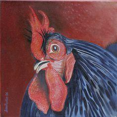 """Cochin Bantam"" oil on canvas"
