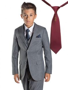 The 'Philip' makes for a great boy's holy communion suit. Moving away from the traditional ivory and white suits usually worn at a boys communion, this suit will make your boy stand out from the crowd.