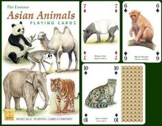 Asian Animals Playing Cards at theBIGzoo.com, an animal-themed store established in August 2000.