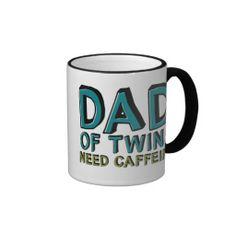 Dad of Twins NEED Caffeine Mug