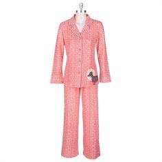 Hue Dog Print Pajamas #VonMaur #Hue #Pajamas