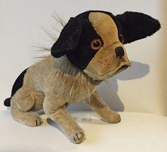 Steiff Bully Bulldog Mohair Antique Original 1927  Rare 17 cm