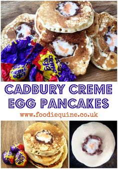 Recipe for Cadbury Creme Egg Pancakes. An Easter (or Pancake Day) treat made with the iconic chocolate egg. Nutella Icing, Chocolate Ganache Tart, Chocolate Mug Cakes, Easter Chocolate, Chocolate Caramels, Baking Scones, Caramel Shortbread, Cadbury Eggs, Bakewell Tart