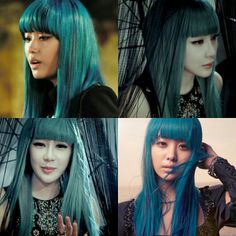 Best hair color ever! 🐬 #jieun #songjieun #bom #parkbom #secret #2ne1 #ithurts #goingcrazy #지은 #송지은 #시크릿 #봄 #박봄 #투애니원 #아파