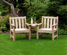 Anchor Fast Sidmouth Companion Bench - Simply Wood