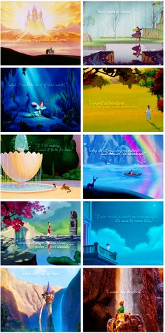 Disney Princesses and their quotes. :)