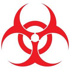 Biohazard Symbol Red