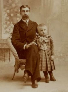 Antique 1890`s Cabinet Photo of Father and Son, ID`d in Collectibles, Photographic Images, Vintage & Antique (Pre-1940), Cabinet Photos | eBay