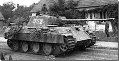 German Panther Tank. The Panther was a medium German tank that went into service the middle of 1943. The tank remained in service until the end of WWII in 1945.