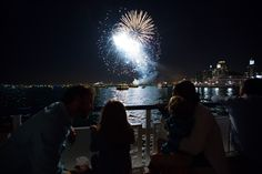Fireworks Boat Tours of Chicago skyline Chicago Tours, Visit Chicago, Chicago Travel, Chicago Fireworks, Princess Yachts, Chicago At Night, Yacht Builders, Top Tours, Chicago Skyline