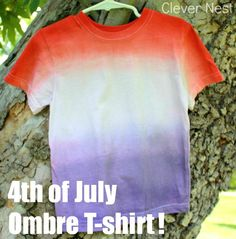 Ombre Red White and Blue T-shirt